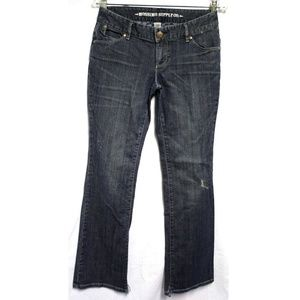 Mossimo Juniors Womens Blue Jeans Size 5 Dark Wash